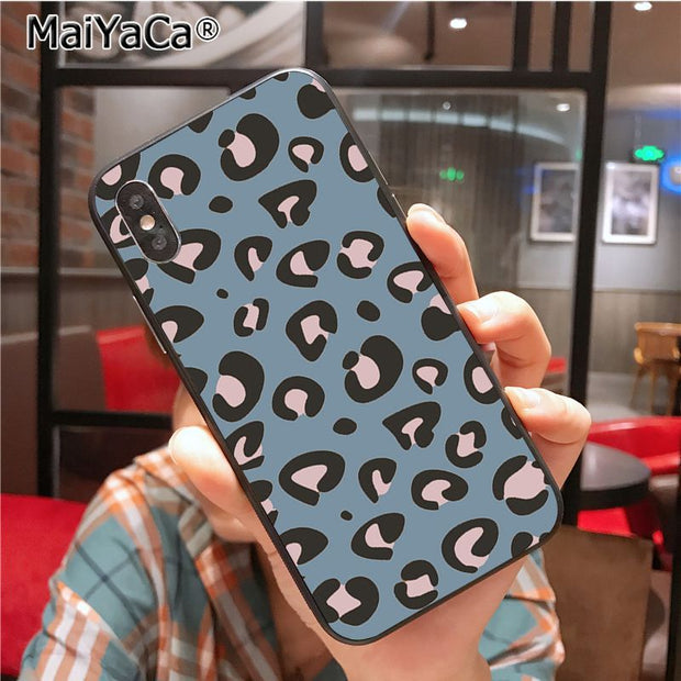MaiYaCa Leopard Print New High Quality Multi Colors Luxury Phone Case For IPhone X XS XR XS MAX 7plus 6 6s 7 8 8Plus 5 5S Case