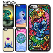 MaiYaCa Lilo And Stitch Stained Glass Cartoon TPU Case For IPhone 6 6S 7 8 Plus 5 5S SE X XR XS MAX Soft Rubber Phone Back Cover