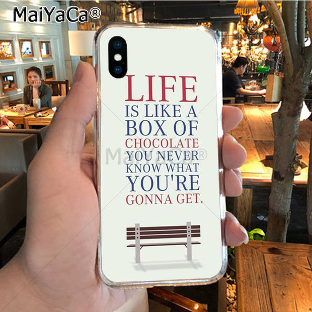 MaiYaCa Movie Forrest Gump New Arrival Phone Ultrathin Case For IPhone 8 7 6 6S Plus X XR XS MAX 5S SEcase Shell