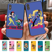 MaiYaCa Pretty Princess Colorful Cute Phone Accessories Case For Apple IPhone X XS XR XS MAX 8 7 6 6S Plus 5 5S SE Case