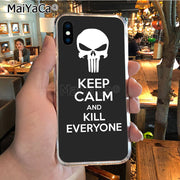 MaiYaCa Punisher Mask Diy Colorful Printing TPU Phone Case For IPhone X XS MAX XR 6S Plus 5S 7 8PLUS Case Cover