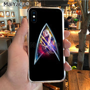 MaiYaCa Star Trek DIY Painted Beautiful Phone Accessories Case For IPhone 8 7 6 6S Plus X XR XS MAX 5S SEcase Shell
