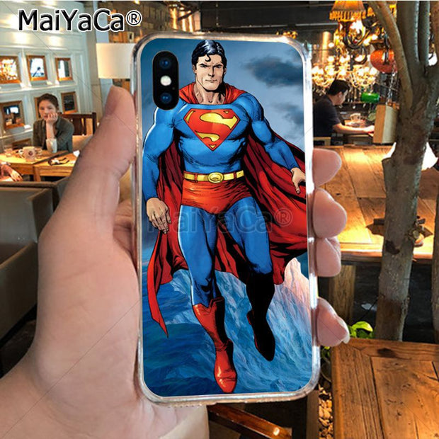 MaiYaCa Superman Top Detailed Popular Phone Case For IPhone 8 7 6 6S Plus X XR XS MAX 5S SEcase Shell