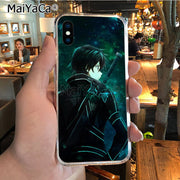 MaiYaCa Sword Art Online Soft Tpu Phone Case Cover For IPhone 8 7 6 6S Plus X XR XS MAX 5S SEcase Shell