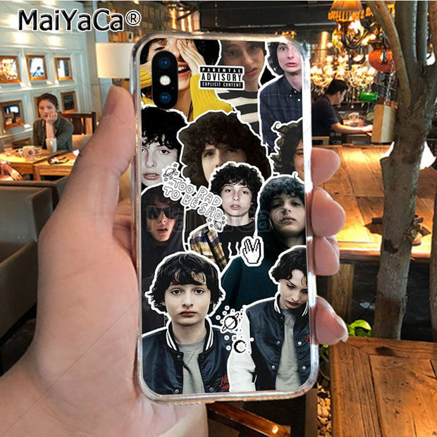 MaiYaCa TV Finn Wolfhard Stranger Things Novelty Fundas Phone Case Cover For IPhone 8 7 6 6S Plus X XR XS MAX 5S SEcase Shell