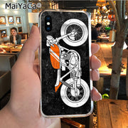 MaiYaCa Vintage Motorcycle New Arrival Phone Ultrathin Case For IPhone 8 7 6 6S Plus X XR XS MAX 5S SEcase Shell