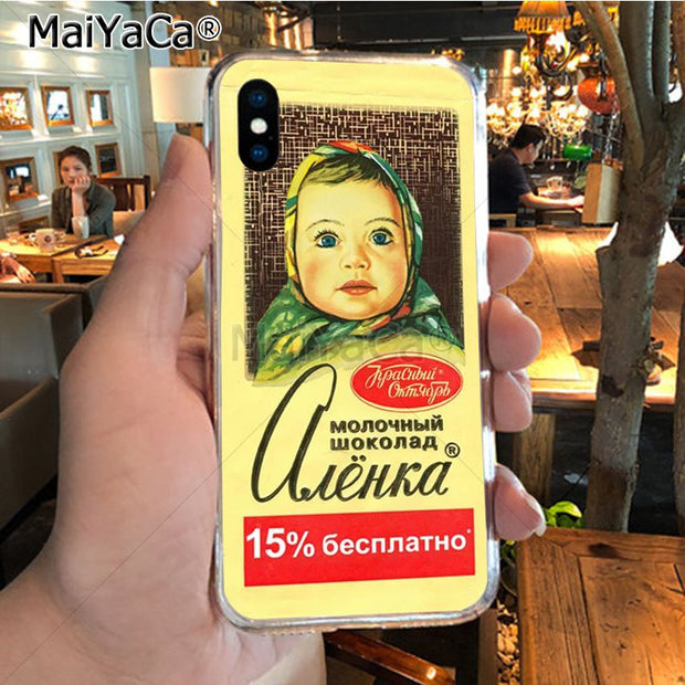 MaiYaCa Alenka Bar Wonka Chocolate Colorful Cute Phone Accessories Case For IPhone 8 7 6 6S Plus X XR XS MAX 5S SEcase Shell