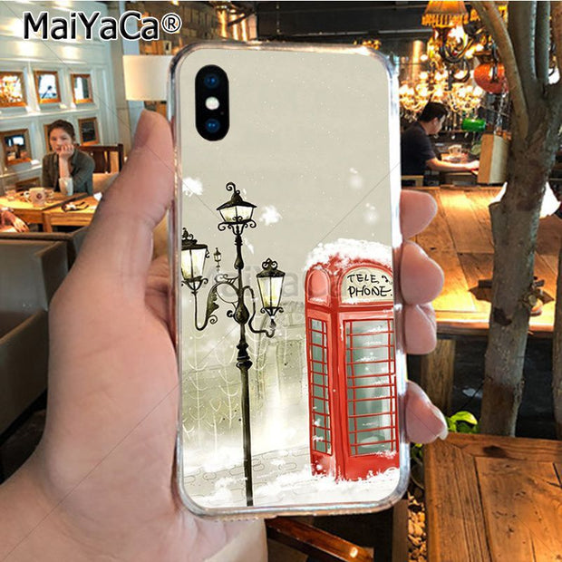 MaiYaCa London Bus England Telephone Vintage British On Sale! Luxury Phone Case For IPhone 8 7 6 6S Plus X XR XS MAX 5S SEcase