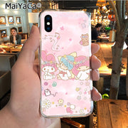 MaiYaCa Lovely My Melody Little Twin Stars Hot Fashion Fun Dynamic Phone Case For IPhone 8 7 6 6S Plus X XR XS MAX 5S SEcase