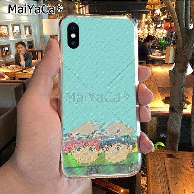 MaiYaCa Ponyo Colorful Cute Phone Accessories Case For IPhone 8 7 6 6S Plus X XR XS MAX 5S SEcase Shell