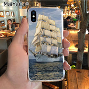 MaiYaCa Sailing Ship Sightseeing Boat Pirate Ship On Sale! Luxury Cool Phone Case For IPhone 8 7 6 6S Plus X XR XS MAX 5S SEcase
