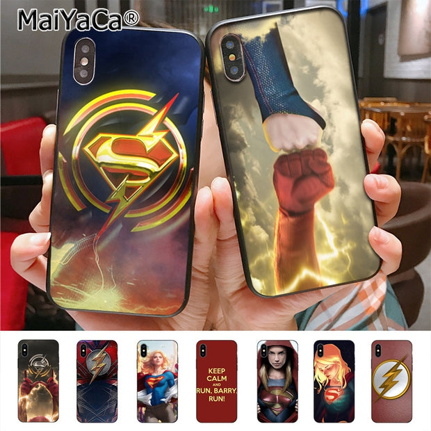 MaiYaCa Supergirl Flash High Quality Phone Accessories Cover For IPhone X 7plus 6 6s 7 8 8Plus 5 5S 5C Case