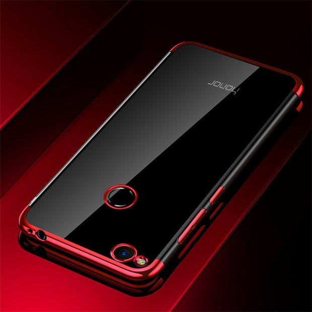 Maoruisi For Huawei Honor 8 Lite Case Luxury Laser Plating Soft Clear Back Cover For Honor 8 Honor8 Lite Phone Bags Cases