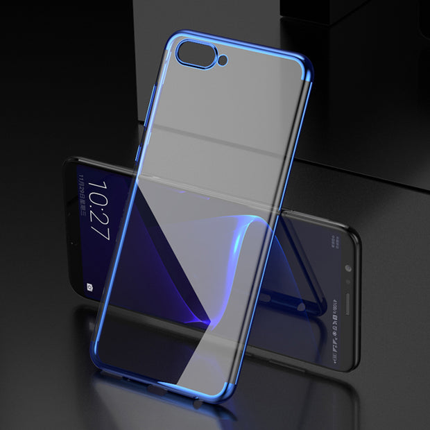 "Maoruisi For Huawei Honor View 10 Case 5.99"" Luxury Laser Plating Transparent Soft Back Cover For Honor View 10 V10 Phone Cases"