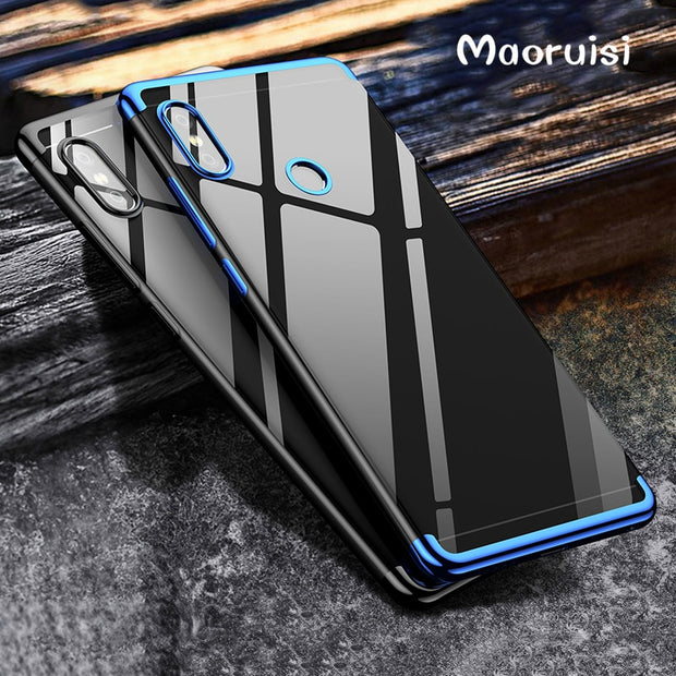 Maoruisi For Xiaomi Mi Mix 2S Case Luxury Laser Plating Transparent Soft Clear Back Cover For Xiaomi MiMix 2S MiX2S Phone Bags