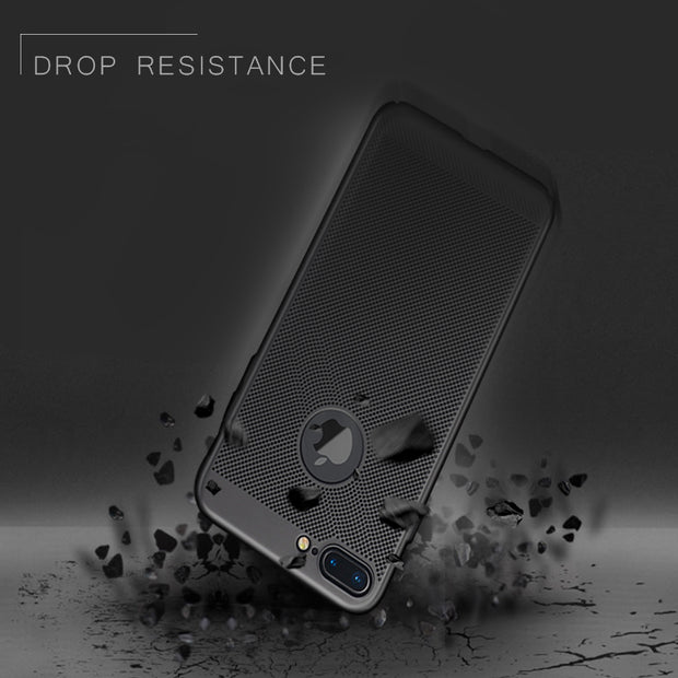 Maoruisi Heat Dissipation Phone Case For IPhone X 10 8 7 6 6s Plus 5 5s SE Cover Cool Matte Plastic Hard PC Cases For IPhone X 8