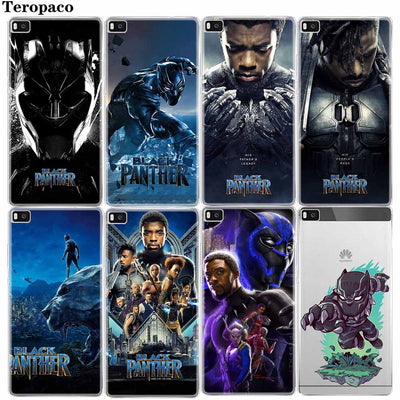 Marvel Comics Black Panther Soft TPU Phone Case For Huawei P8 P9 P10 P20 Mate10 Lite 2017 Pro Plus Honor 6X 7X 7C 9 L Cover
