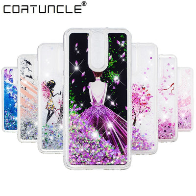 Mate 10 Lite Case On For Fundas Huawei Nova 2i Case Silicone Liquid Glitter Soft TPU Phone Cases For Coque Huawei Mate 10 Cover