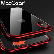 MaxGear Shining Plating Mobile Phone Case For IPhone X Protective Shell Case Thin Silm Soft Back Cover TPU Case For IPhone 10