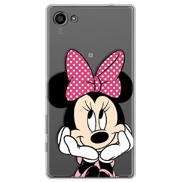 Minnie Mickey Luxury Phone Case Cover For Fundas Sony Xperia Z5 Compact Case TPU Soft Silicone Transparent Back Bags Coque Cute