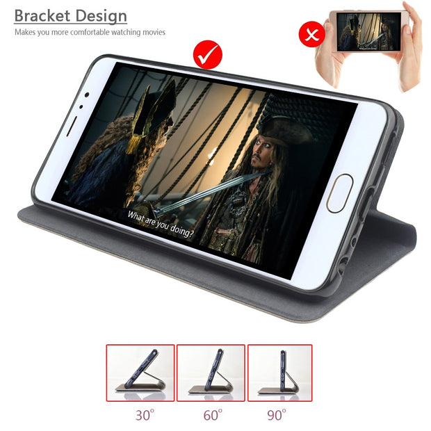 Mobile Phone Bag PU Leather Case For OPPO A37 Wallet Flip Cases