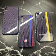 Motorsport AMG Racing Car M Carbon Fiber Case For Huawei P20 Lite Pro Nova 3 3i Honor 10 8X PLAY Mirror Glass Cover GTR Coque