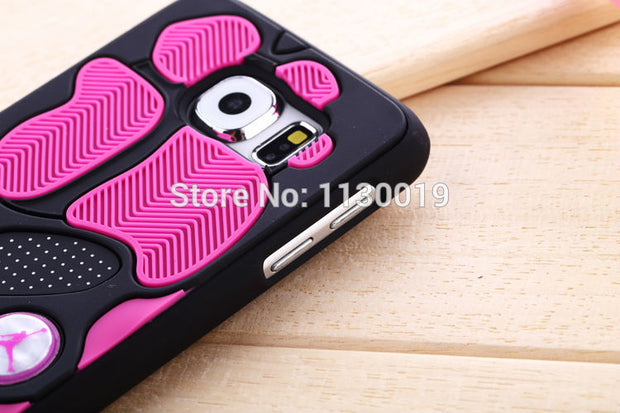 NEW Air Jordan Shoe Sole PVC+Rubber Case For Samsung Galaxy S6 G9200, 3D AJ Jumpman23 Back Cover Phone Cases Russia Free Ship