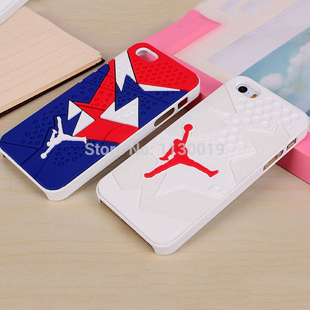 New 3D Air Jordan Shoe Sole PVC+Rubber Cases For IPhone 5/5S, AJ Jumpman 23 Back Cover Phone Cases For IPhone SE,Free Shipping
