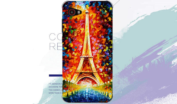 "New Pattern Cool Pattern Colored Tiger Owl Rose Eiffel Tower Soft Tpu Case For Senseit A109 5.0"" Cover For Senseit A109 Case"