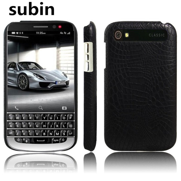 New Arrival For BlackBerry Classic Q20 Case Luxury Retro Crocodile Skin Book Cover For BlackBerry Q20/Classic Phone Bag Case