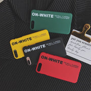 OFF-White Classic Yellow Case For IPhone X XS 7 8 Plus Leather Soft Silicon Protect Case For IPhone Street Off Yellow Strap Case