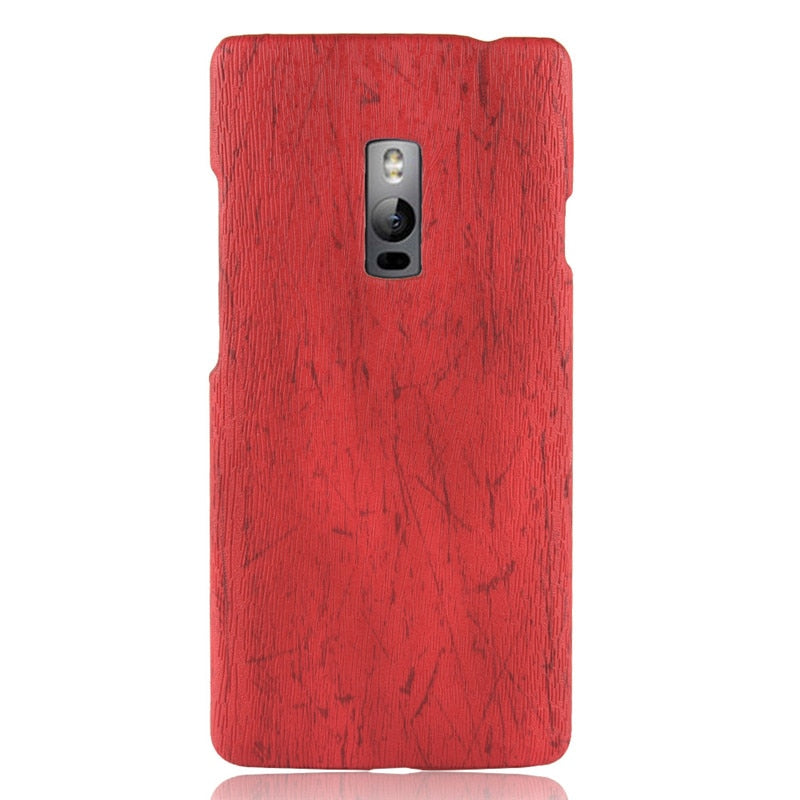 reputable site 5f5e7 2cb67 OnePlus 2 Phone Case Bumper PC Plastic PU Leather Cover For One Plus 2 Two  OnePlus2 Wood Cases