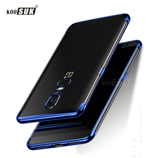 OnePlus 6 Case KOOSUK Luxury Soft Plating Phone Case For One Plus 6 A6000 Ultra Thin Protective Back Cover For OnePlus 6 1+6