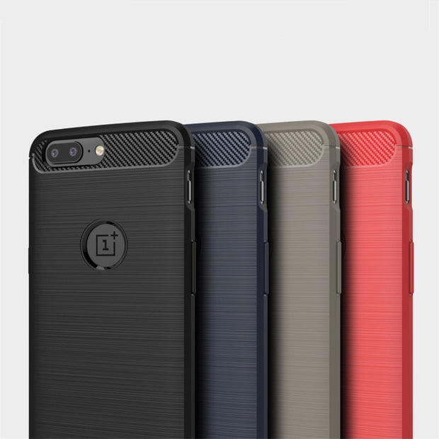 Oneplus 5t Case Carbon Fiber One Plus 5 T Case Brushed Silicone Protective Back Cover Shockproof Oneplus 3t 5 5t