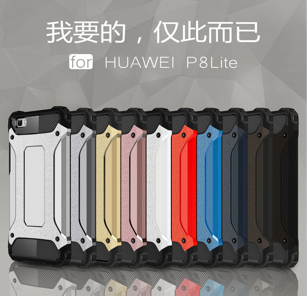 PC Armor TPU Case For Huawei P8 Lite P8Lite ALE-L21 ALE-L23 Silicon Anti-Shock Hard Protection Phone Cover For Huawei P 8 Lite