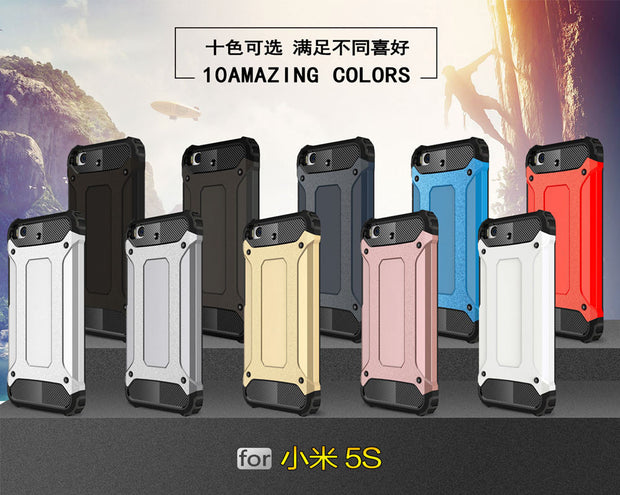 PC Armor TPU Case For Xiaomi Mi 5S Mi5S Dual Luxury Silicon Anti-Shock Hard Protection Phone Cover For Xiaomi MI 5 S Fitted Case