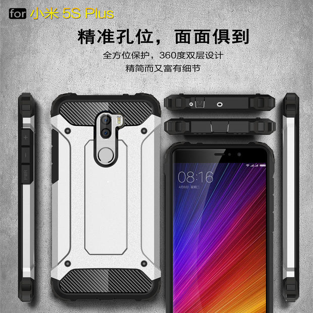 PC Armor TPU Case For Xiaomi Mi 5S Plus Silicon Anti-Shock Hard Protection Phone Cover For Xiaomi MI 5 S Plus 5SPlus Fitted Case
