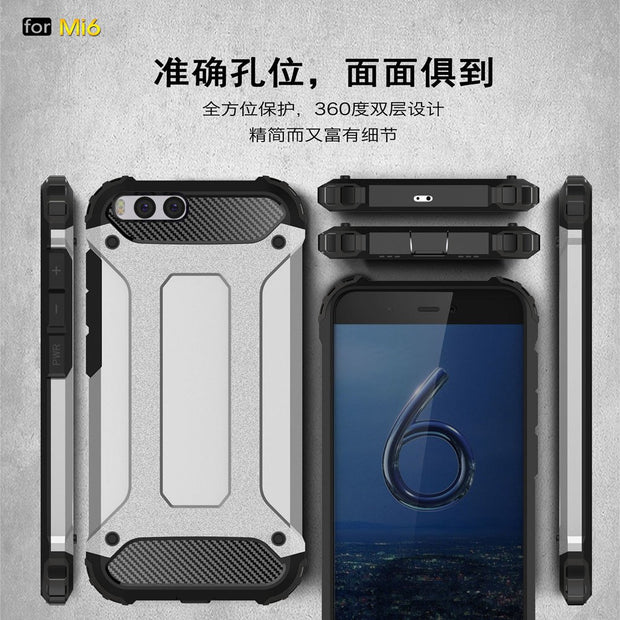PC Armor TPU Case For Xiaomi Mi 6 Mi6 MCE16 Silicon Anti-Shock Hard Protection Phone Cover For Xiaomi Sagit M6 M 6 Fitted Case