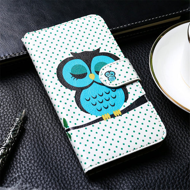 PU Leather Case For Alcatel U5 Cases Flip Coque For Alcatel