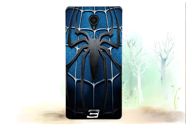 "Pace 4G Q415 Cases Luxury UV Painting Colored Glass Spider Skull Soft Tpu Case For Micromax Canvas Pace 4G Q415 4.5"" Cover Bags"