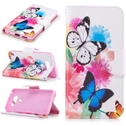 Painted PU Leather Cases For LG G6 Cover Flip Wallet Card Stents Holster Feather Butterfly Deer Designer Phone Bags Case