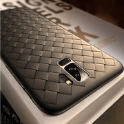 Pattern Case For Samsung S9 Luxury Grid Matte Hollow Silicone Case For Samsung Galaxy S9 Plus S9+ Coque Back Cover Bags