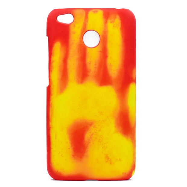Phone Case For Xiaomi Thermal Sensor Fluorescent Color Changing Phone Back Cover For Redmi 4X Protective Phone Shell Wholesale