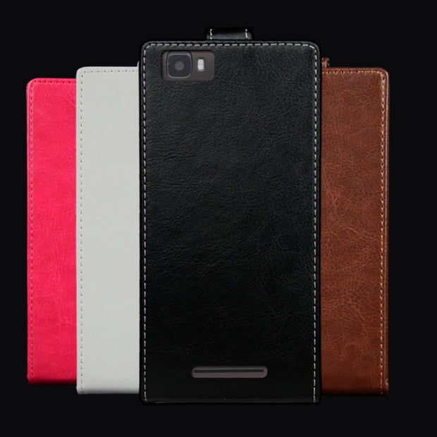 Pierves G0 Luxury Card Slot Flip Cover PU Leather Case For DEXP Ixion ML350 Force Pro
