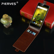 Pierves G0 Luxury Card Slot Flip Cover PU Leather Case For FLY Power Plus XXL FS530