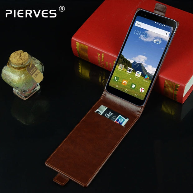 Pierves G0 Luxury Card Slot Flip Cover PU Leather Case For Philips S395