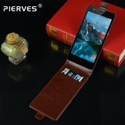 Pierves G0 Luxury Card Slot Flip Cover PU Leather Case For TP-Link Neffos C5A