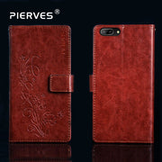 Pierves Luxury Card Slot Flip PU Leather Wallet Cover Phone Case For MTC Smart Pro