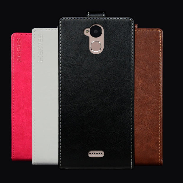 Pierves Luxury Card Slot Flip Cover PU Leather Case For BQ BQ-5510 Strike Power Max 4G
