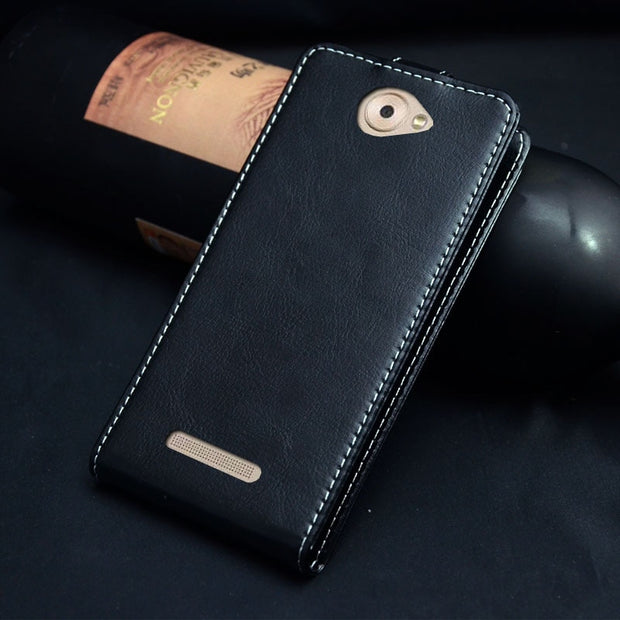 Pierves Luxury Card Slot Flip Cover PU Leather Case For BQ BQS-5070 Magic